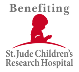 St Jude Research Hospital Logo - we donate to them